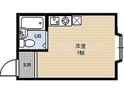 大宝都島ロイヤルハイツ[2階]の間取り