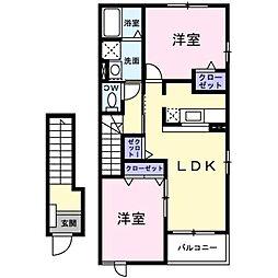 スペースKⅠ[2階]の間取り