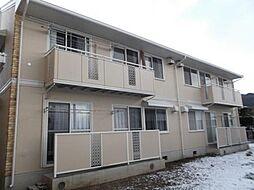 長野県松本市大字岡田松岡の賃貸アパートの外観