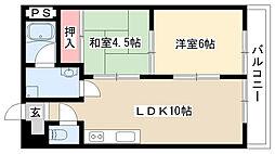 ハウス大屋敷[205号室]の間取り