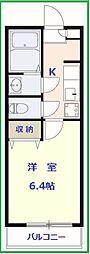 東京都江戸川区東小岩1丁目の賃貸アパートの間取り