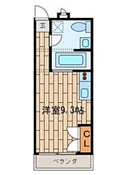 CASA OKUNISHI[008号室]の間取り