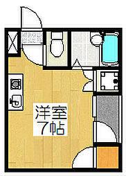 クローバーハウス五条[201号室]の間取り