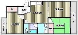 サン、マックマンション[1階]の間取り