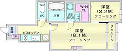 JR東北本線 南仙台駅 徒歩26分の賃貸アパート 1階1Kの間取り