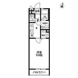 wisteria[206号室]の間取り