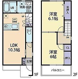 ベイローレル C101[2階]の間取り