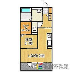 D-room原地蔵(仮) 1階1LDKの間取り