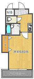 ベルメゾン千里山[203号室]の間取り
