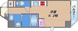 color鶴橋 3階ワンルームの間取り