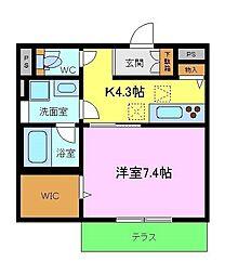 (仮称)熊取町・シャーメゾン大久保北3丁目 1階1Kの間取り