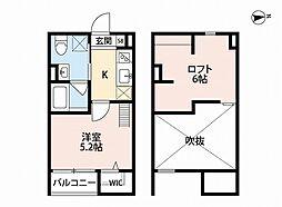 兵庫県明石市樽屋町の賃貸アパートの間取り