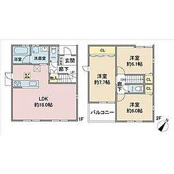 [一戸建] 愛知県名古屋市名東区上社2丁目 の賃貸【/】の間取り