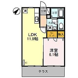 パル春日 B棟[1階]の間取り