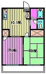 ハイツM[2階]の間取り