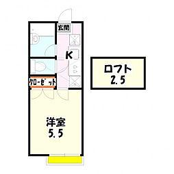 第10ヒカリパーク[1階]の間取り