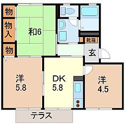 静岡県駿東郡清水町伏見の賃貸アパートの間取り