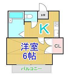 ソングコート倉敷[2階]の間取り