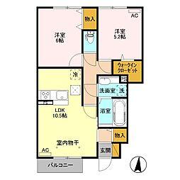 (仮)ウィット高井町 B[102号室]の間取り