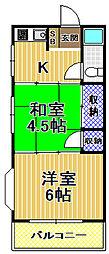 浜本マンション[4階]の間取り
