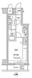 東京メトロ半蔵門線 住吉駅 徒歩15分の賃貸マンション 7階1Kの間取り