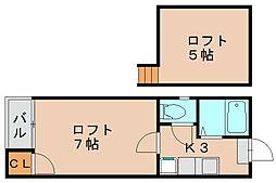 ピュア箱崎[1階]の間取り