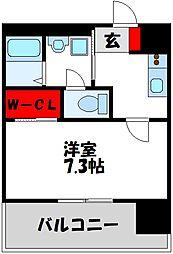 仮)LANDIC 美野島3丁目 11階1Kの間取り