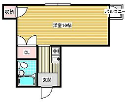 シティハイツ住之江公園[4階]の間取り