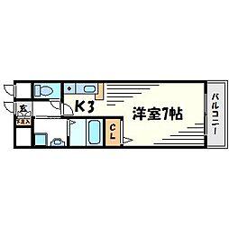 マサーナ阪神[1階]の間取り