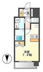 プレサンス名古屋STATIONザ・シティ[9階]の間取り