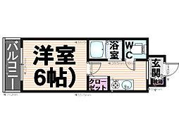 シティマンション大橋15[202号室]の間取り