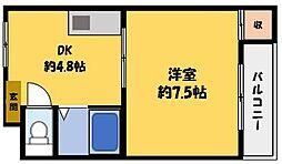 マンションサンベル[1階]の間取り