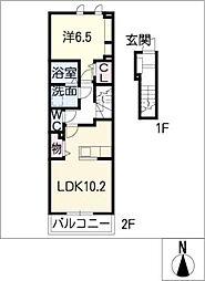 ベレッザ[2階]の間取り
