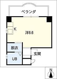 シャルム恵 E〜Hタイプ[3階]の間取り