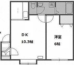 北海道札幌市手稲区曙一条2の賃貸アパートの間取り