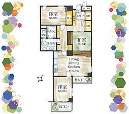 最上階南向きで陽当たり眺望良好のお部屋。カフェキッチンや土間玄関等リノベで再現することも可能です。