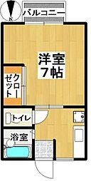 シティホームB棟[205号室]の間取り