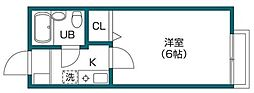 LAVIEAN成城B[2階]の間取り