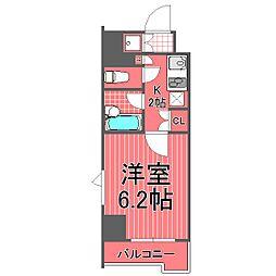 ルーブル川崎[804号室]の間取り