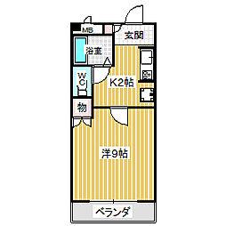 愛知県名古屋市中川区長須賀2丁目の賃貸マンションの間取り
