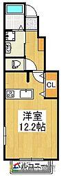 ルート3&カーサⅡ[1階]の間取り