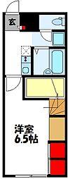 JR筑豊本線 飯塚駅 徒歩29分の賃貸アパート 2階1Kの間取り