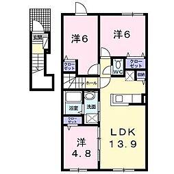 パンプキンII[2階]の間取り