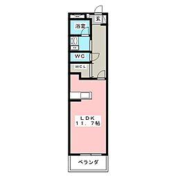 クレストE[2階]の間取り