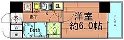 エステムコート心斎橋アルテール[6階]の間取り