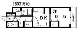 メゾンヴェルデュール[3階]の間取り