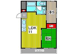 青木公園マンション[3階]の間取り