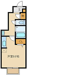 兵庫県尼崎市若王寺2丁目の賃貸アパートの間取り
