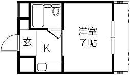 ヴィラ守口[6階]の間取り