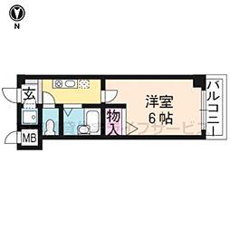 なかよしマンション四条大宮[205号室]の間取り